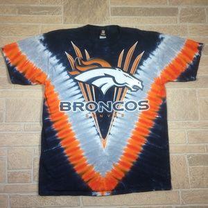 Denver Broncos NFL Tie Dye Heavy Cotton Shirt
